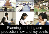 Planning, ordering and production flow and key points